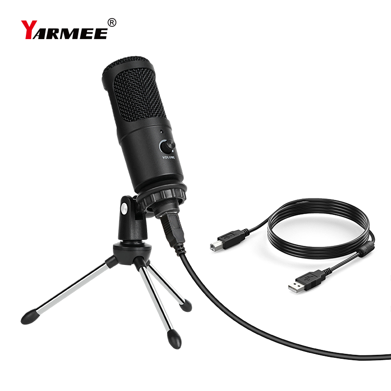 YARMEE USB Microphone PC Condenser Microphone Vocals Recording Studio Mic for YouTube Video Skype Chatting Game Podcast YR07