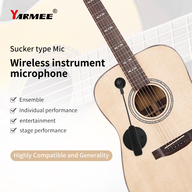 Wireless Microphone System Clip on Musical Instruments for Saxophone Trumpet Sax Horn Tuba flute Clarinet Pipe Guitar cello